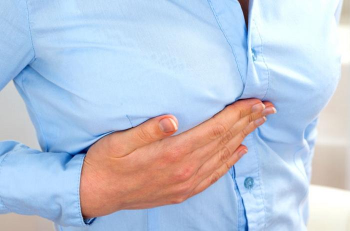 почему болит грудь в середине цикла
